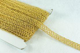 Metallic Gold 20mm Criss Cross Braid x 1m